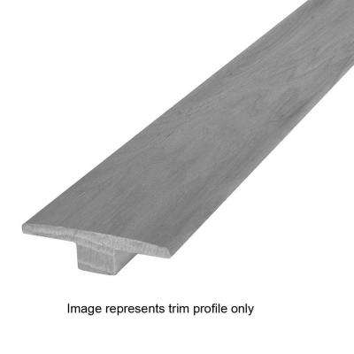 Thunderstorm Gray Hickory 9/16 in. Thick x 2 in. Wide x 84 in. Length Hardwood T-Molding