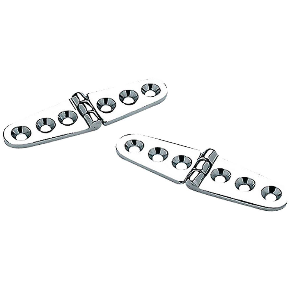 """Seachoice Boat Marine Utility 2 Pack of Stainless Steel Butt Hinges 2/"""" X 3/"""""""