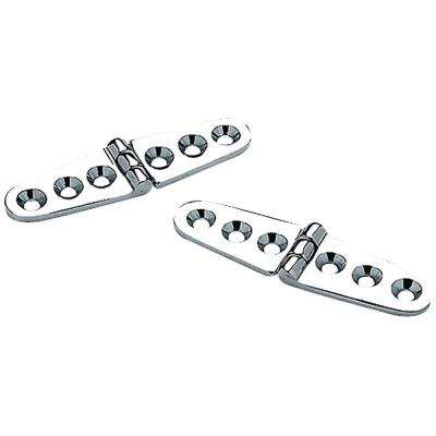 6 in. Strap Hinges in Chrome Plated Brass