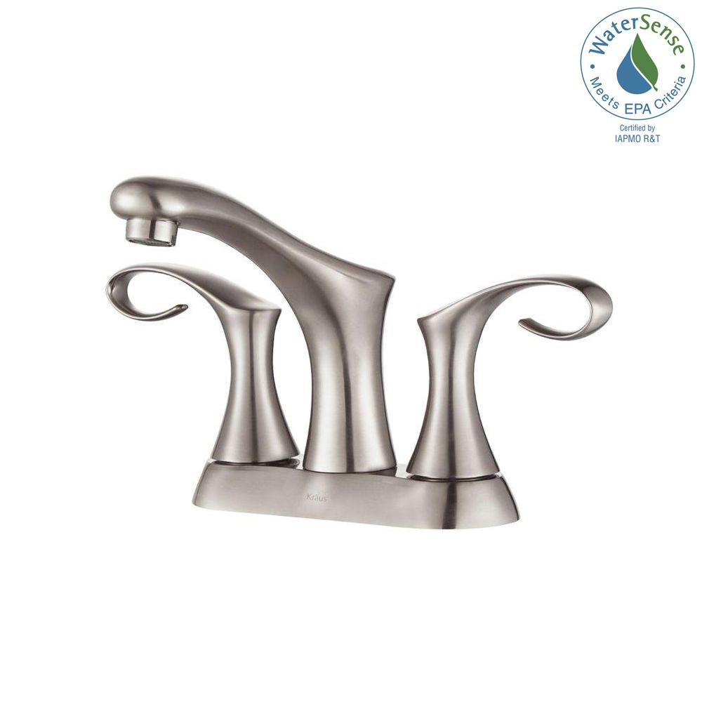 Cirrus 4 in. Centerset 2-Handle Bathroom Faucet in Brushed Nickel