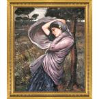 """""""Boreas with Versailles Gold Queen"""" by John William Waterhouse Framed Abstract Wall Art Oil Painting 25 in. x 29 in."""