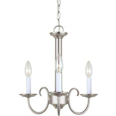 Holman 3-Light Brushed Nickel Single Tier Chandelier