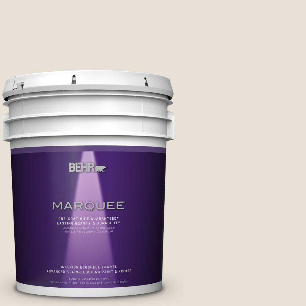5 gal. #MQ3-13 Crisp Linen Eggshell Enamel One-Coat Hide Interior Paint and Primer in One