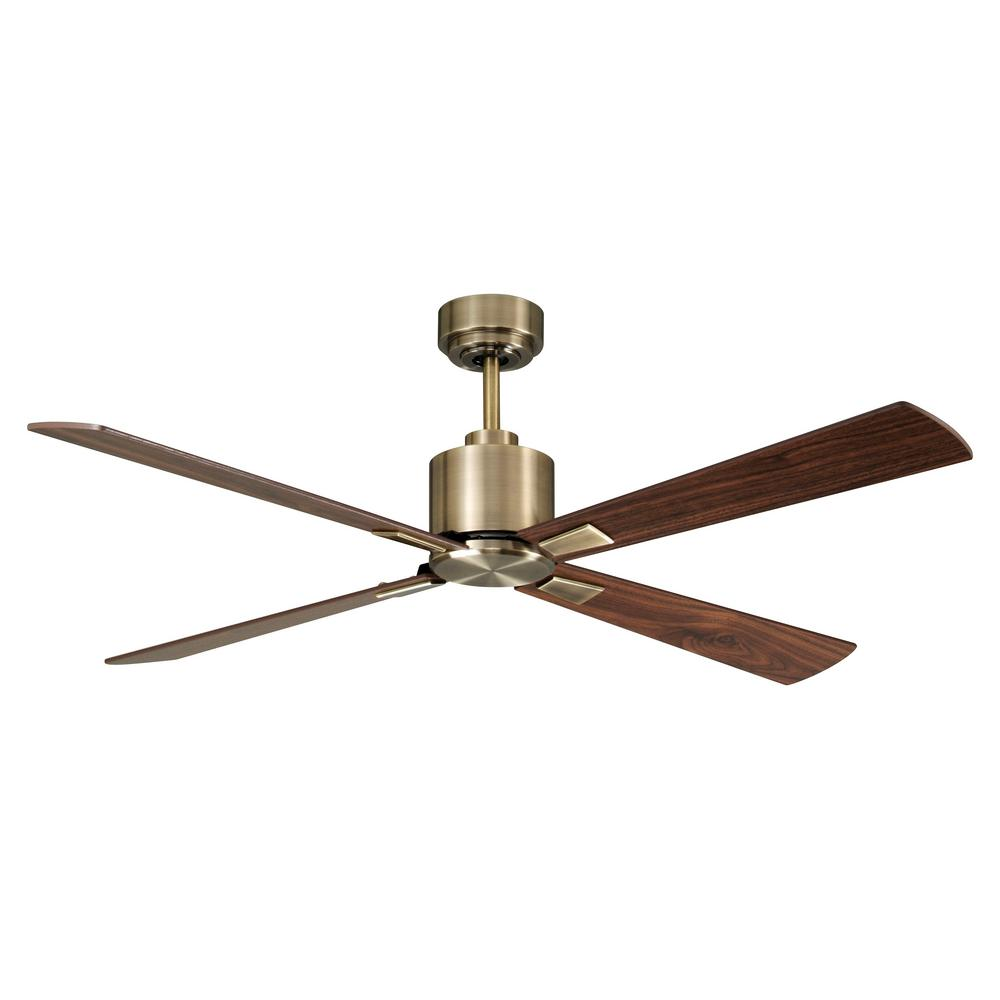 Lucci Air Airfusion Climate 52 In Antique Brass Ceiling