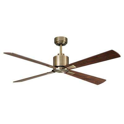 Airfusion Climate 52 in. Antique Brass Ceiling Fan with Remote Control