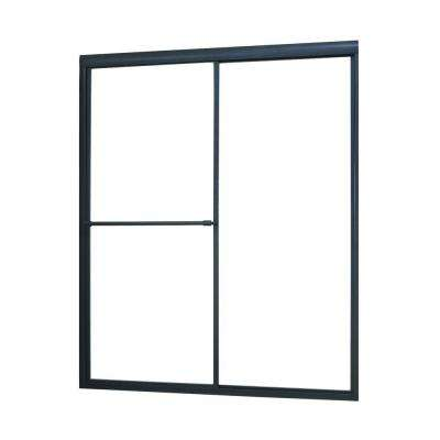 Tides 40 in. to 44 in. x 70 in. Framed Sliding Bypass Shower Door in Oil Rubbed Bronze and Clear Glass