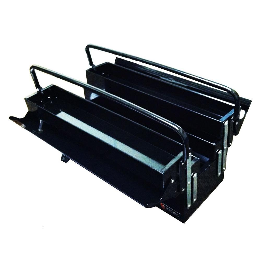 H Cantilever Portable Steel Tool Box, Black TB122B  Black   The Home Depot