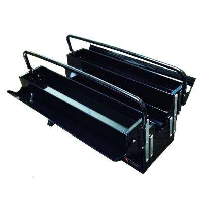 19.5 in. W x 7.9 in. D x 11.4 in. H Cantilever Portable Steel Tool Box, Black