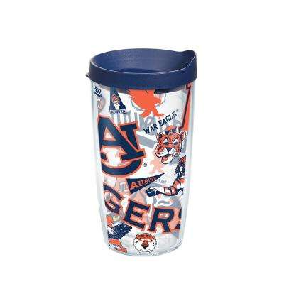 Auburn Unv All Over 16 oz. Double Walled Insulated Tumbler with Travel Lid