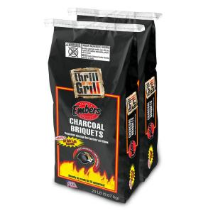 Embers 20 lb. Twin Pack Charcoal Briquets