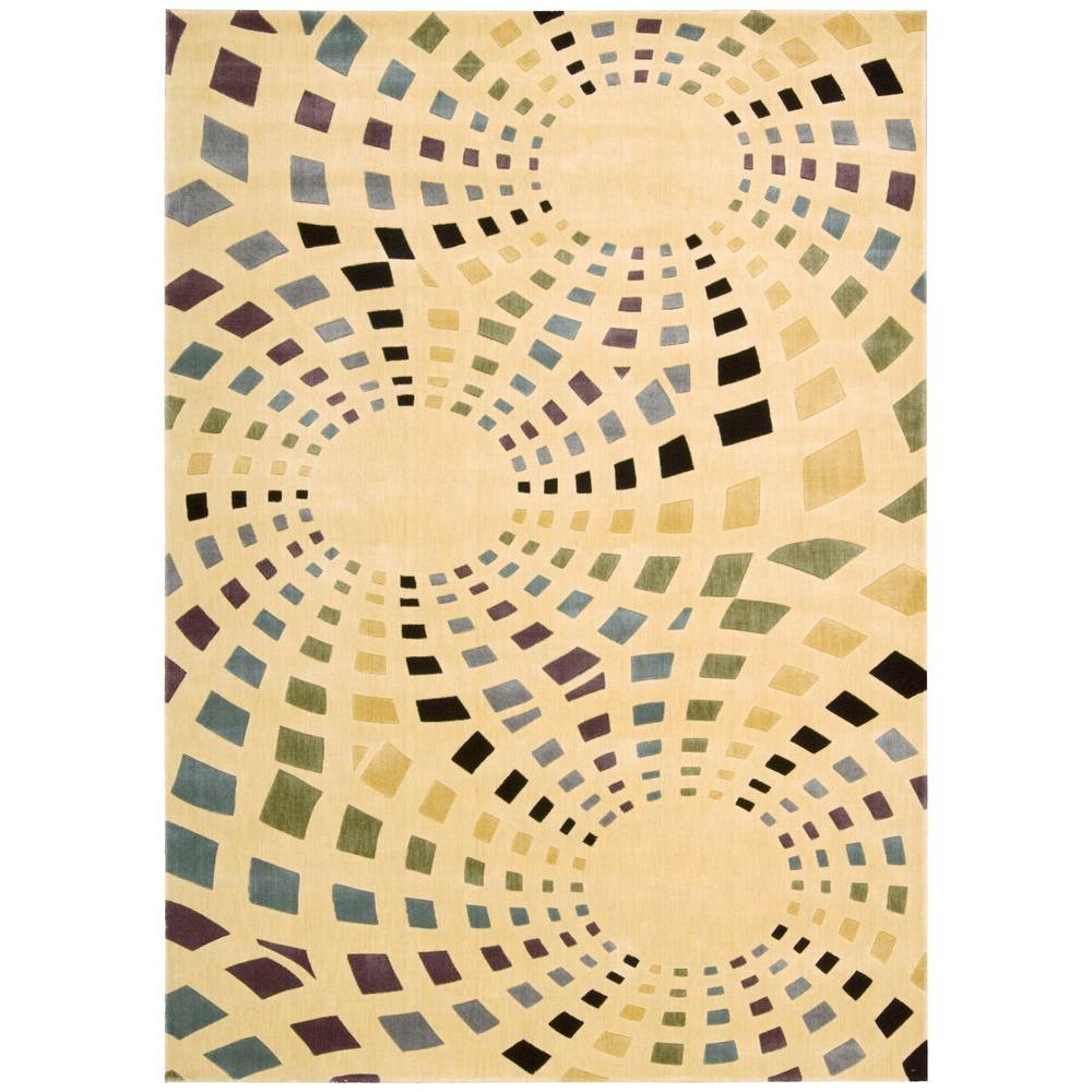 Nourison Overstock Celebrations Ivory 5 ft. 6 in. x 7 ft. 5 in. Area Rug