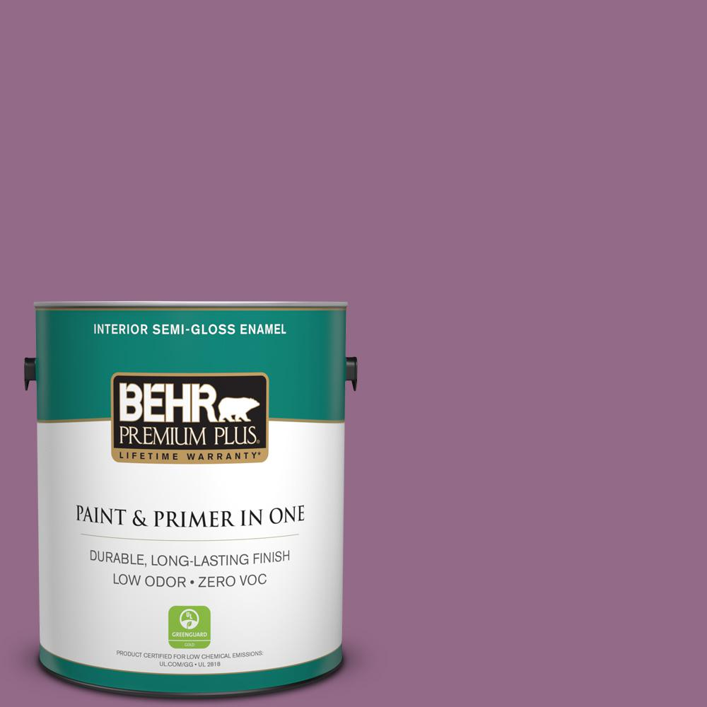 BEHR Premium Plus 1-gal. #M110-6 Sophisticated Lilac Semi-Gloss Enamel Interior Paint