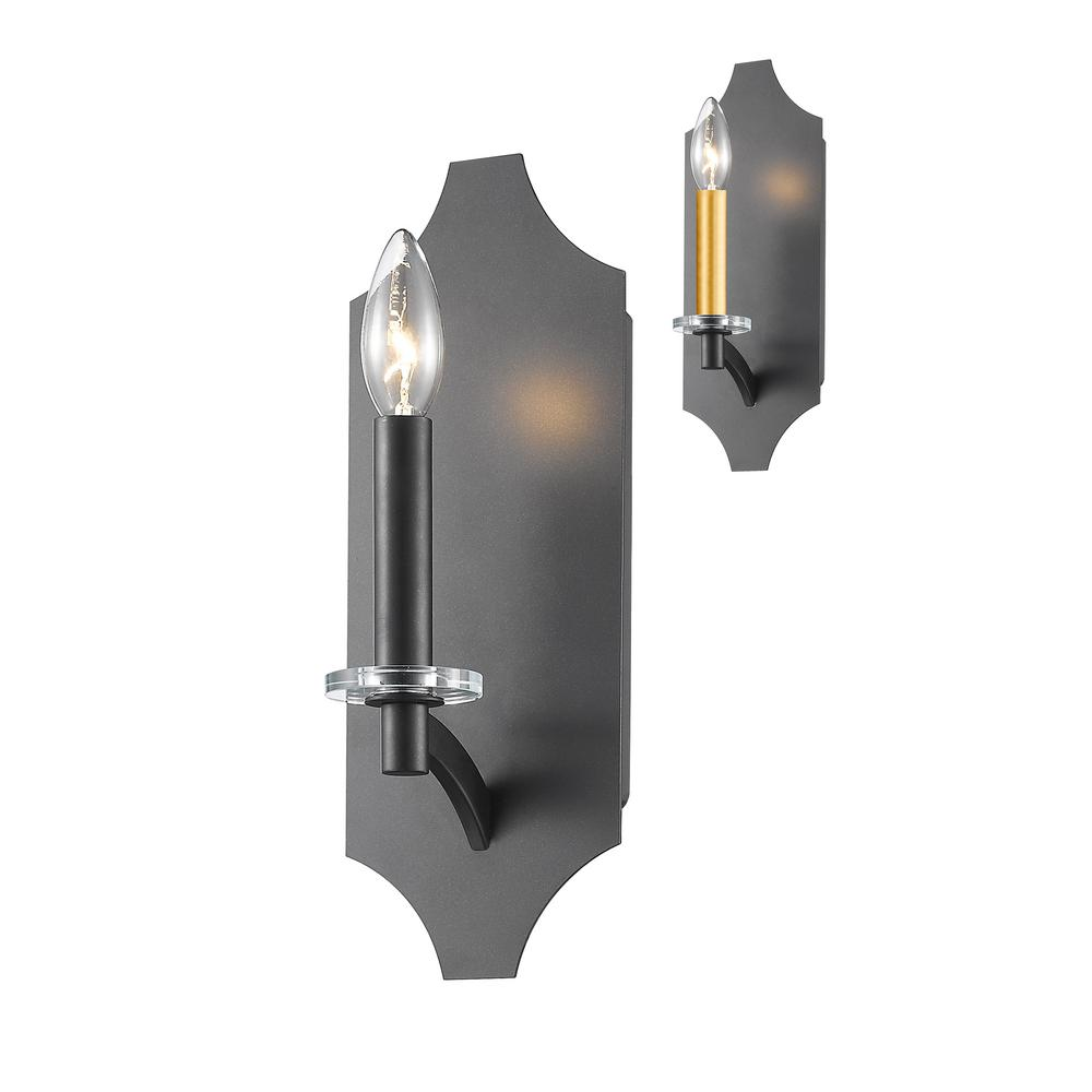 Aron 1-Light Bronze Wall Sconce