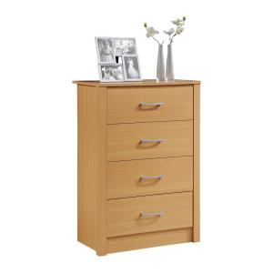 4-Drawer Beech Chest