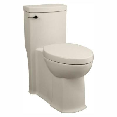 Boulevard Tall Height 1-Piece 1.28 GPF Single Flush Elongated Toilet in Linen, Seat Included