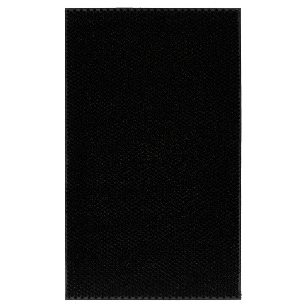 Rubber Doormat Collection Black Elanji 18 in. x 30 in. Rubber