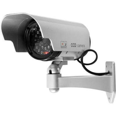 Wireless Indoor or Outdoor Security Dummy Surveillance Camera Decoy with Blinking LED and Adjustable Mount