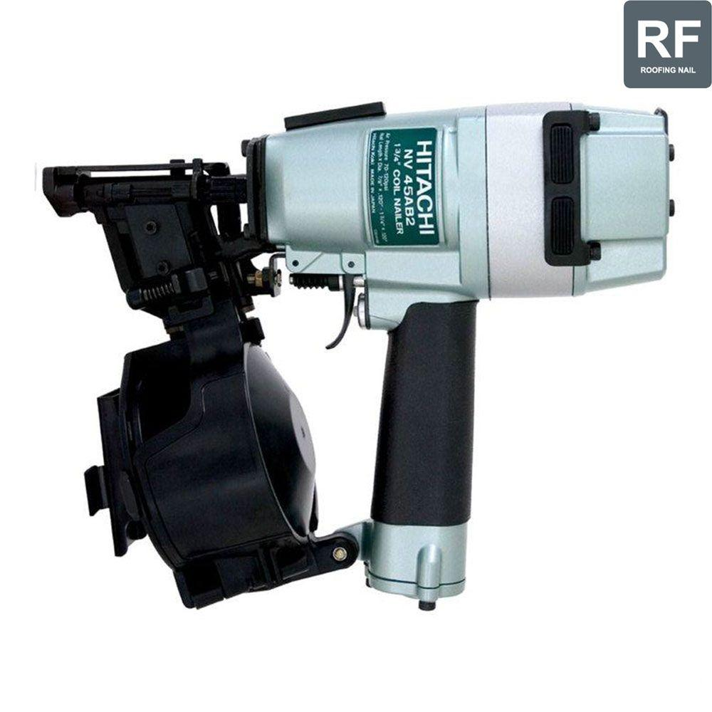 Hitachi 1-3/4 in. Powered Head Roofing Coil Nailer with Side Load Magazine and Wire Collation