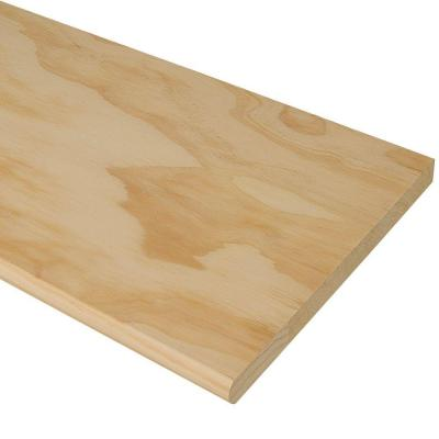36 in. x 11-1/2 in. Pine Stair Tread