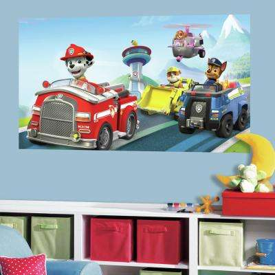 60 in. W x 36 in. H Paw Patrol 2- Piece Peel and Stick Wall Decal Mural
