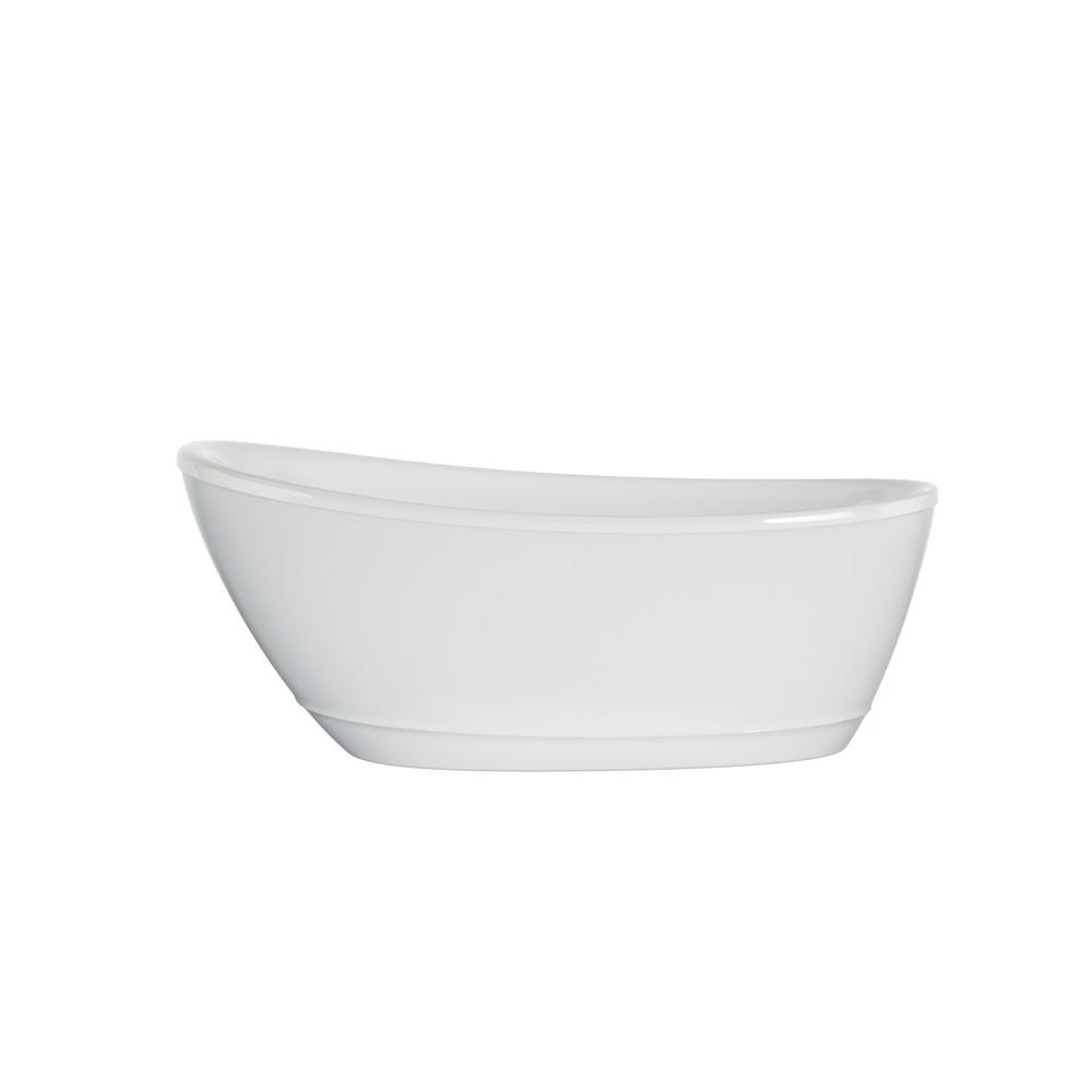 JACUZZI Johanna 59 in. x 30 in. Acrylic Flatbottom Freestanding Soaking Bathtub in White was $1499.0 now $899.0 (40.0% off)