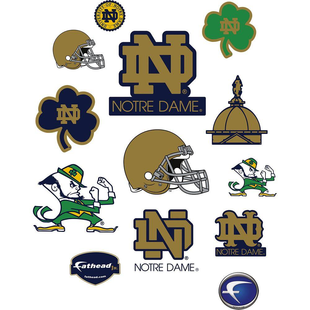 Fathead 40 in. x 27 in. Notre Dame Fighting Irish Team Logo Assortment Wall Decal