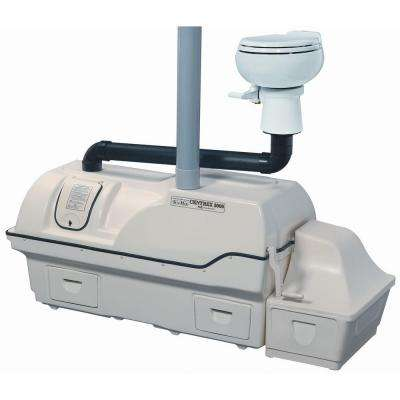 Centrex 3000 Non-Electric Waterless Ultra High Capacity Central Composting Toilet System in Bone