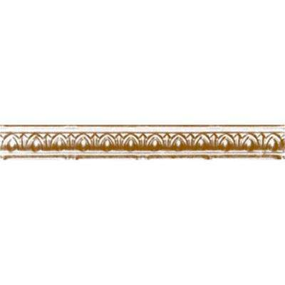 2 in. x 4 ft. x 2 in. Satin Brass Nail-up/Direct Application Tin Ceiling Cornice (6-Pack)