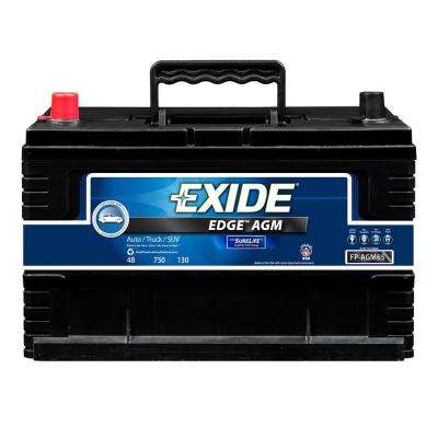 Edge 12 volts Lead Acid 6-Cell 65 Group Size 750 Cold Cranking Amps (BCI) Auto AGM Battery