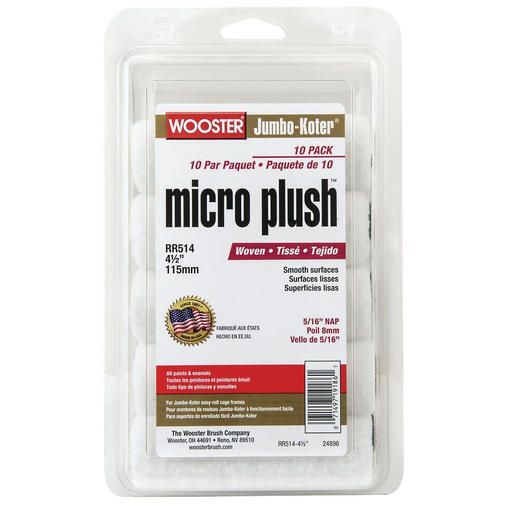 Wooster 4-1/2 in. x 5/16 in. Jumbo-Koter Micro Plush (10-Pack)
