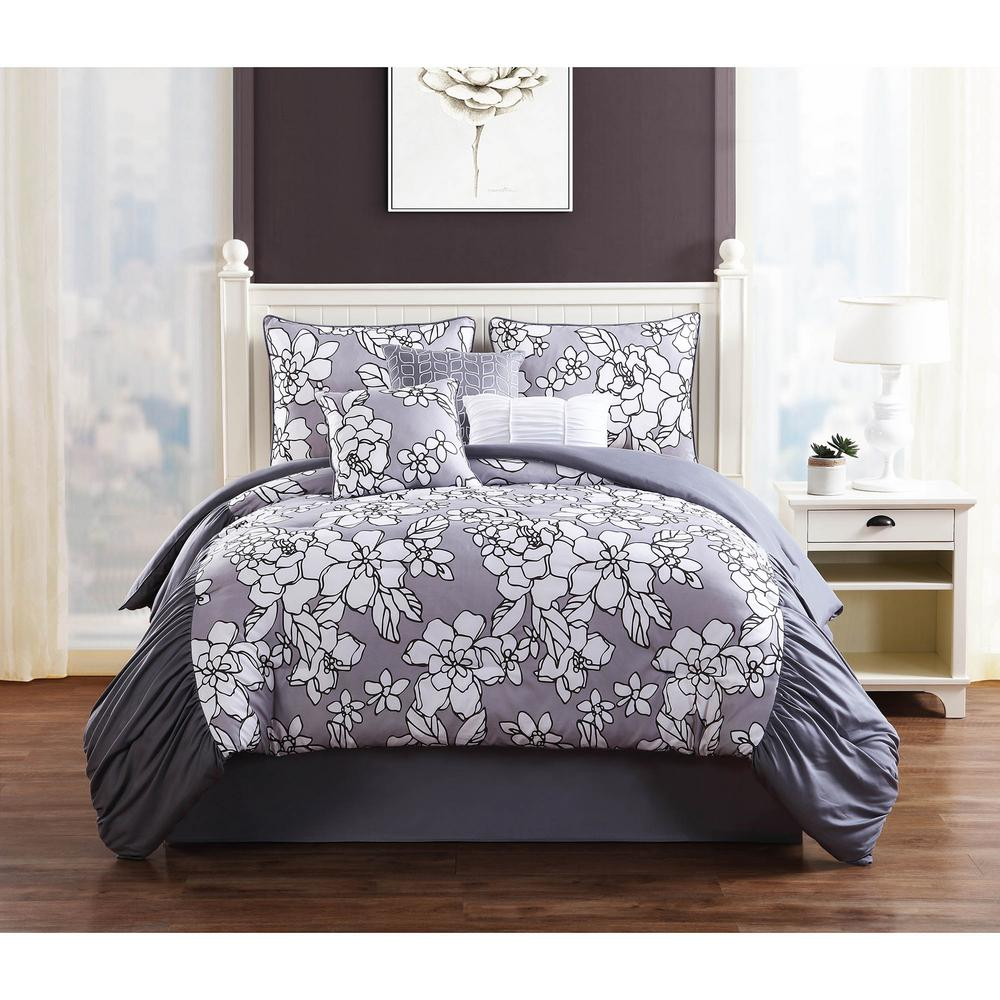 studio  province grey piece king comforter set. studio  province grey piece king comforter setymz  the