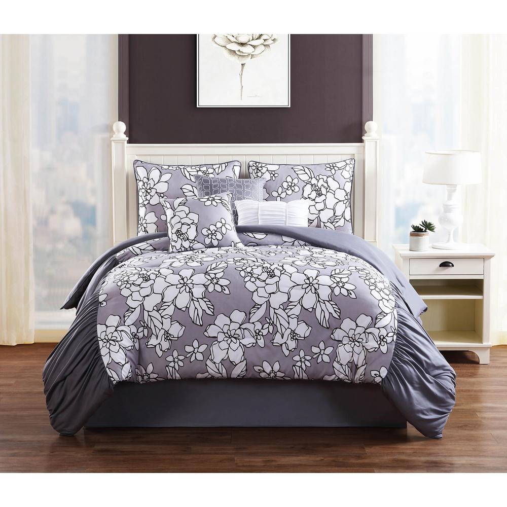 Studio 17 Province Grey 7-Piece King Comforter Set