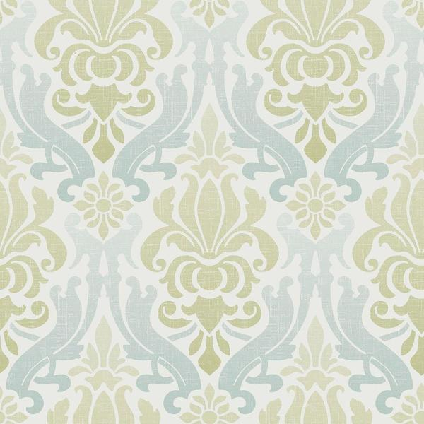 768947174f51 NuWallpaper Multi Color Blue and Green Nouveau Damask Wallpaper ...