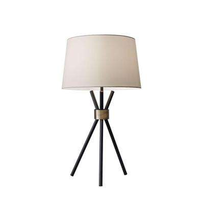 Benson 25 in. Black Table Lamp