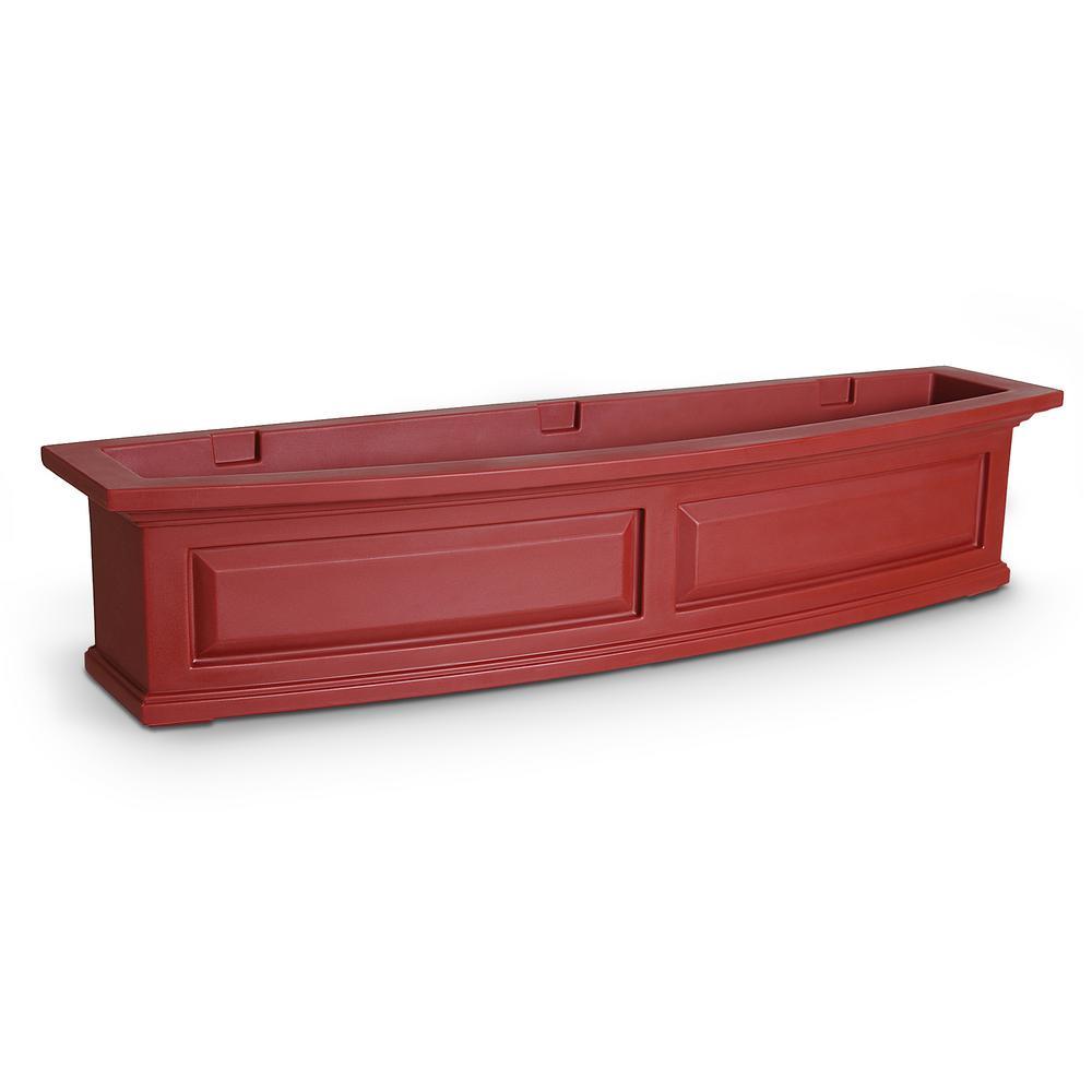 48 in. x 11.5 in. Red Plastic Window Box