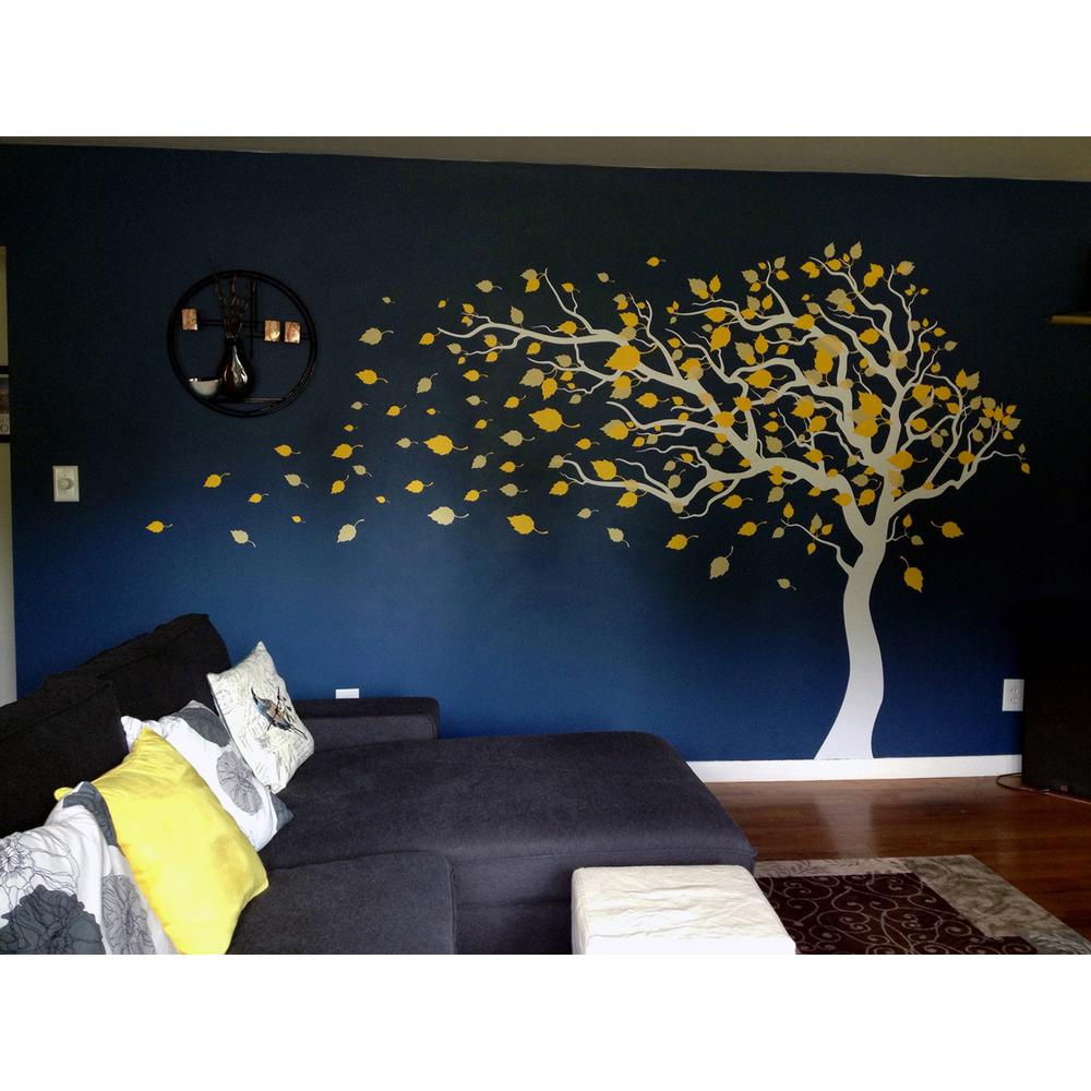 123 in. x 83 in. Blowing in the Wind Tree Removable