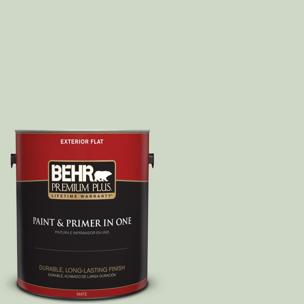 BEHR Premium Plus 1-gal. #S390-2 Spring Valley Flat Exterior Paint