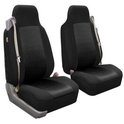 Flat Cloth 47 in. x 23 in. x 1 in. Built-In Seatbelt Compatible High Back Front Seat Covers
