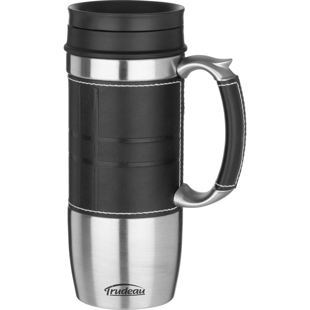 Trudeau 16 oz. Boardroom Stainless Steel, Double Wall Insulated Travel Mug