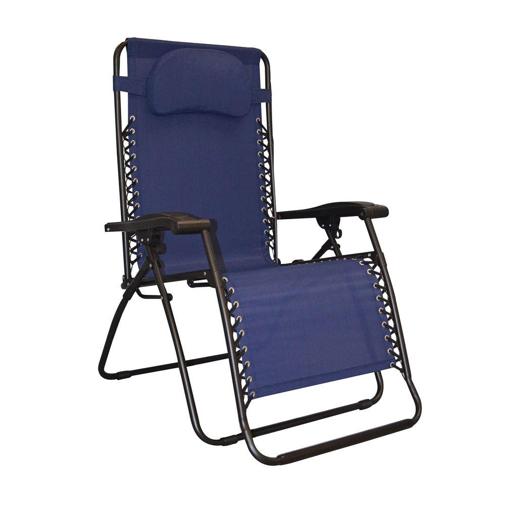 Caravan Sports Infinity Blue Oversize Zero Gravity Patio Chair ...