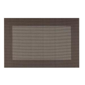 Kraftware EveryTable Thick Border Brown and Tan Placemat (Set of 12) by Kraftware