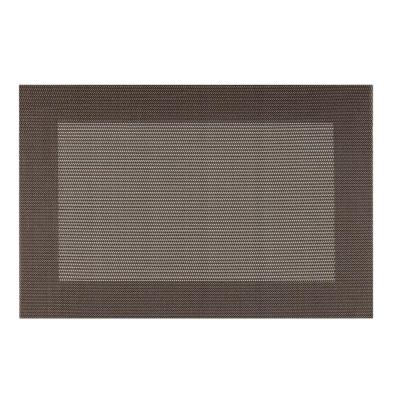 EveryTable Thick Border Brown and Tan Placemat (Set of 12)