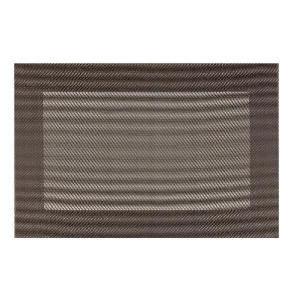 Kraftware EveryTable Thick Border Brown and Tan Placemat (Set of 12)