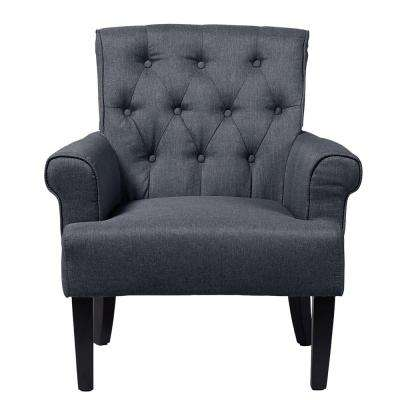 Barret Contemporary Gray Fabric Upholstered Accent Chair