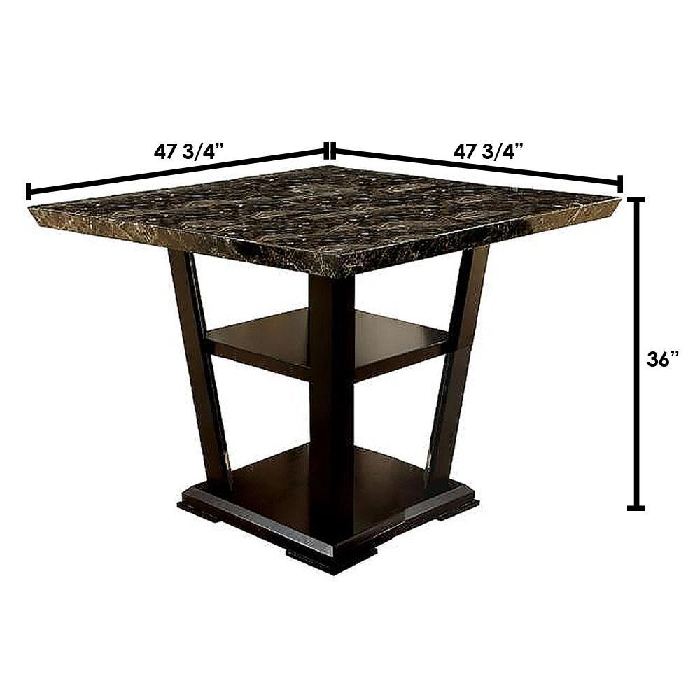Clayton II Dark Cherry Counter Height Table