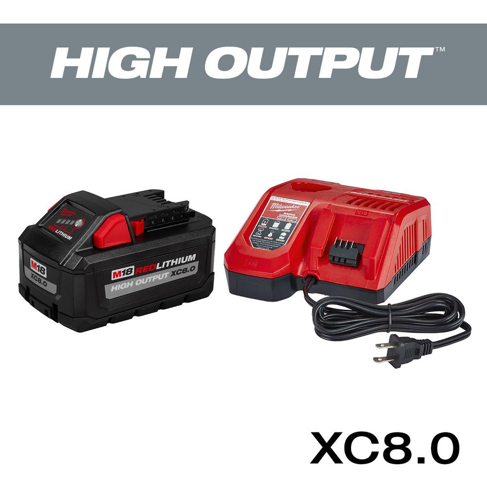 Milwaukee Milwaukee M18 18-Volt Lithium-Ion HIGH OUTPUT Starter Kit W/ XC 8.0Ah Battery & Rapid Charger