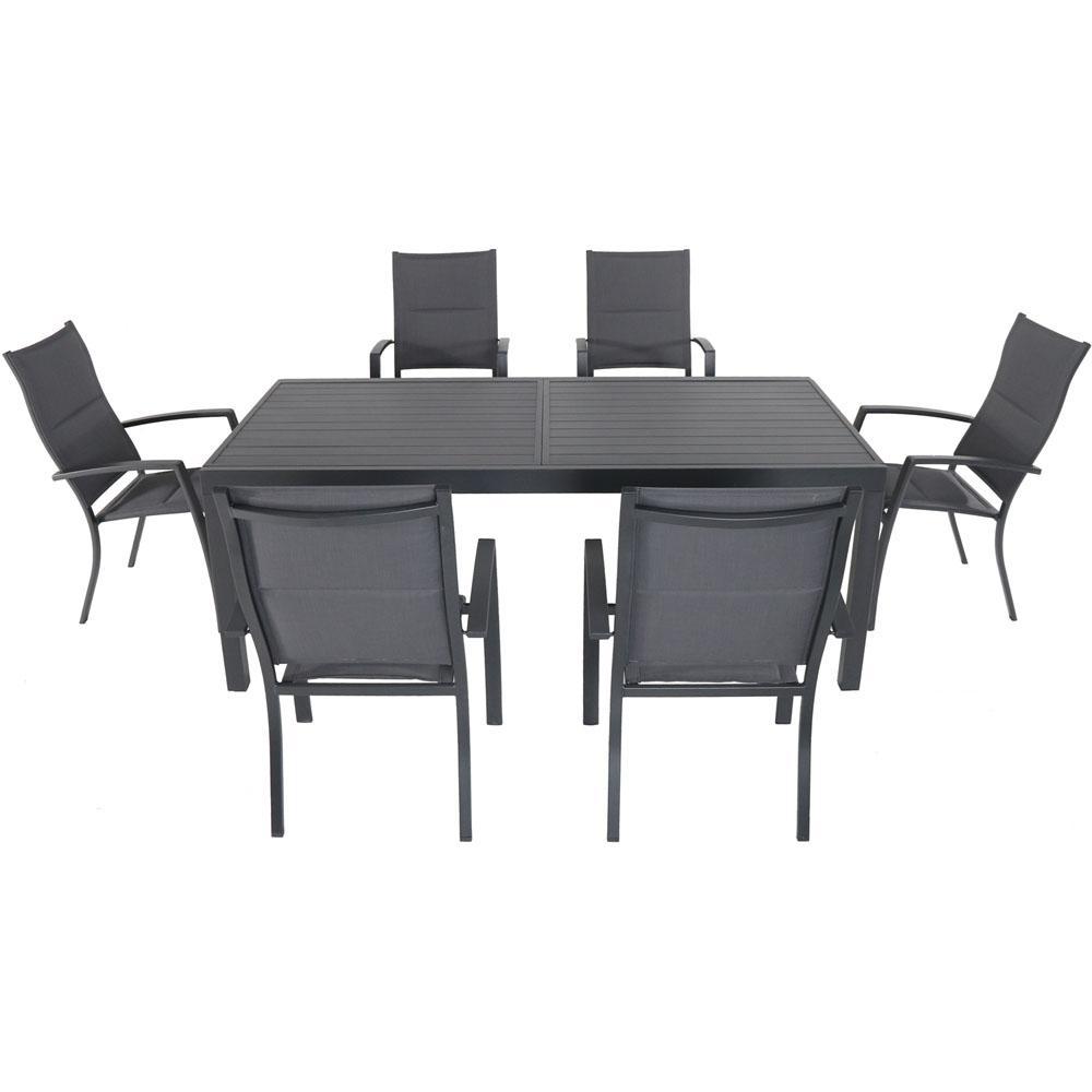 Cambridge Nova 7 Piece Aluminum Outdoor Dining Set With 6 High Back