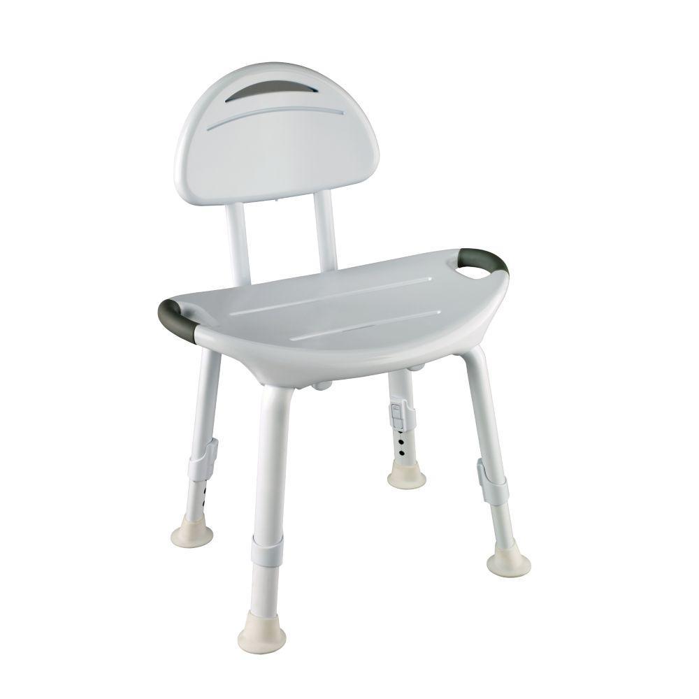 15-3/4 in. x 6 in. Adjustable Designer Bathtub and Shower Safety Seat in White