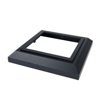 3.5 in. x 3.5 in. Black Sand Aluminum Deck Post Base Cover