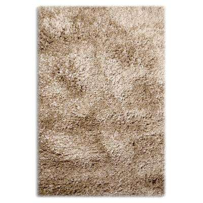 Colorville Shag Cappuccino 6 ft. 7 in. x 8 ft. 10 in. Area Rug